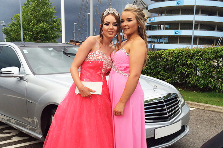 Prom Car Hire Chauffeur Service Warrington Cheshire Manchester Liverpool Wirral