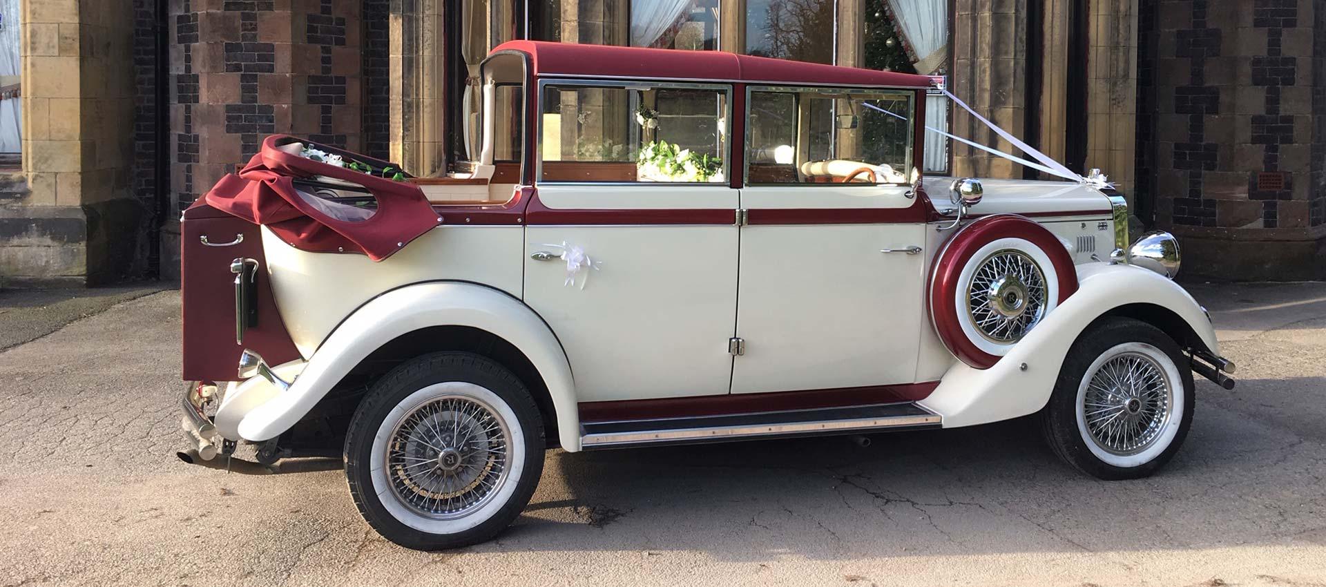 Vintage Car Wedding Hire Chauffeur Manchester Cheshire