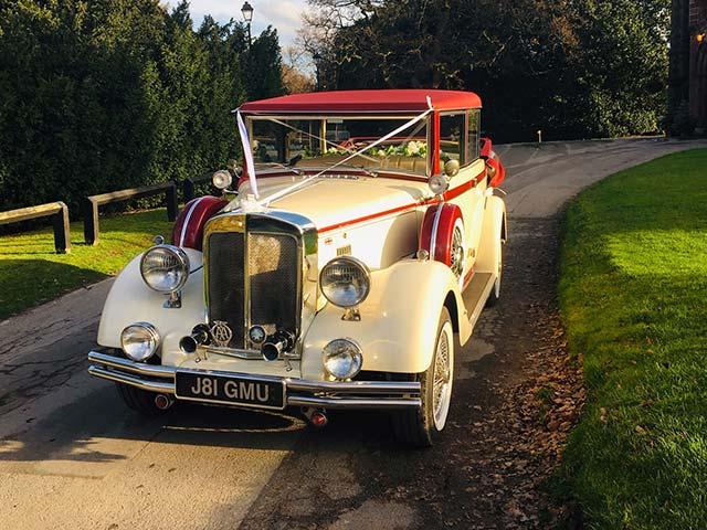 Vintage Wedding Car Chauffeur Hire Cheshire Chester